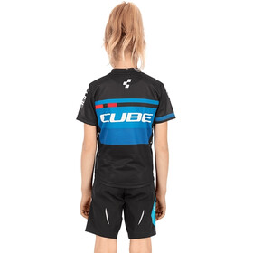 Cube Junior Teamline Jersey Korte Mouwen Kinderen, black´n´blue´n´white